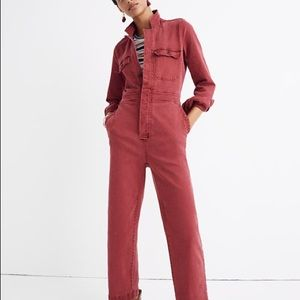 Madewell garment dyed denim coverall jumpsuit